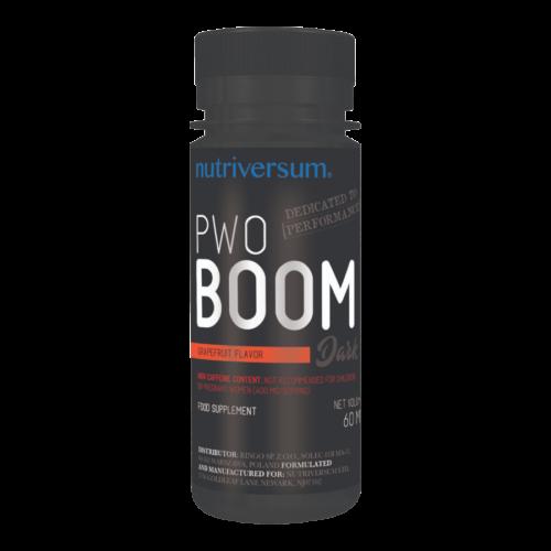 PWO Boom - 60ml - DARK - Nutriversum - grapefruit - folyékony, edzés előtti formula