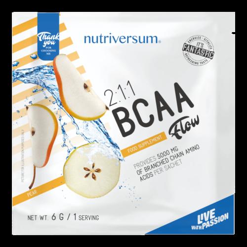 2:1:1 BCAA - 6 g - FLOW - Nutriversum - körte - esszenciális aminosav