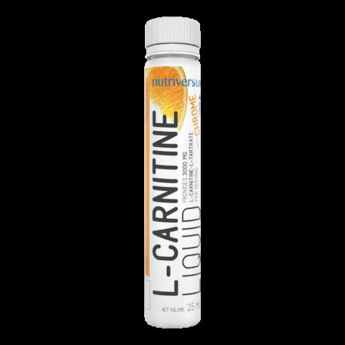 L-Carnitine 3 000 mg - 25 ml - FLOW - Nutriversum - narancs - hozzáadott króm és vitaminok