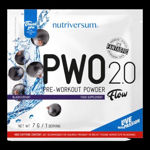 PWO 2.0 - 7g - FLOW - Nutriversum - feketeribizli - megadózisú összetétellel