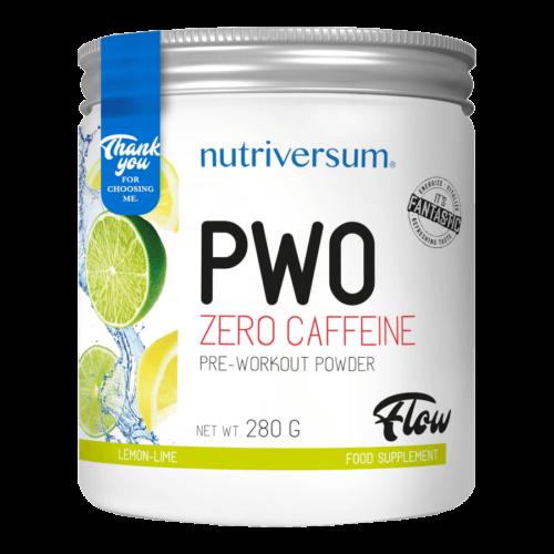 PWO zero caffeine - 280g - FLOW - Nutriversum - citrom-lime - nem tartalmaz koffeint