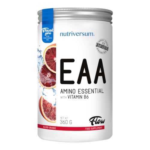 EAA - 360 g - FLOW - Nutriversum - vérnarancs - új és modern aminosavkészítmény
