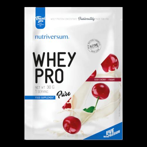Whey PRO - 30 g - PURE - Nutriversum - meggy-joghurt - 23 g prémium fehérje forrás