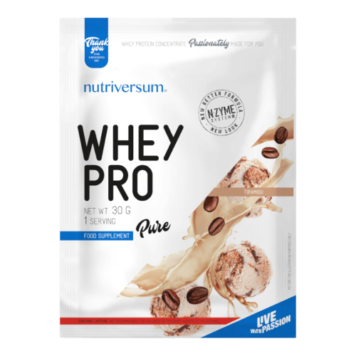 Whey PRO - 30 g - PURE - Nutriversum - tiramisu - 23 g prémium fehérje forrás
