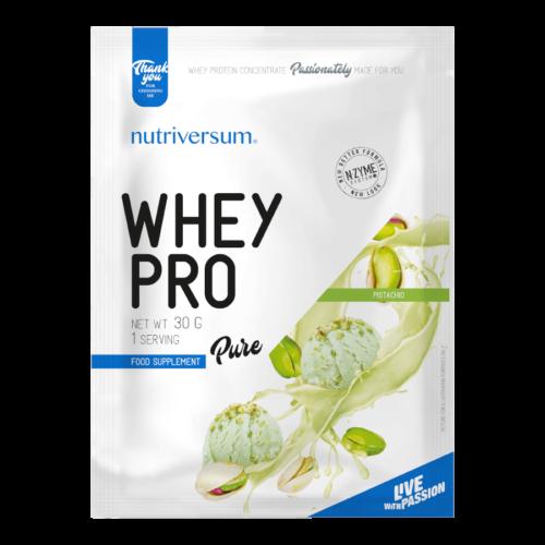 Whey PRO - 30 g - PURE - Nutriversum - pisztácia - 23 g prémium fehérje forrás