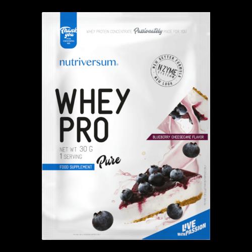 Whey PRO - 30 g - PURE - Nutriversum - áfonyás sajttorta - 23 g prémium fehérje forrás