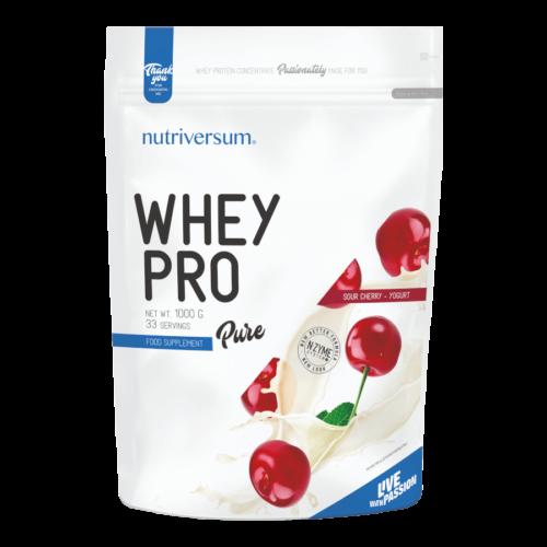 Whey PRO - 1 000 g - PURE - Nutriversum - meggy-joghurt - 23 g prémium fehérje forrás