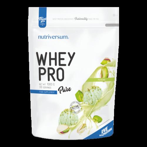 Whey PRO - 1 000 g - PURE - Nutriversum - pisztácia - 23 g prémium fehérje forrás