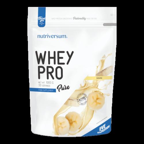 Whey PRO - 1 000 g - PURE - Nutriversum - banán - 23 g prémium fehérje forrás