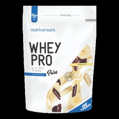 Whey PRO - 1 000 g - PURE - Nutriversum - banan-split - 23 g prémium fehérje forrás