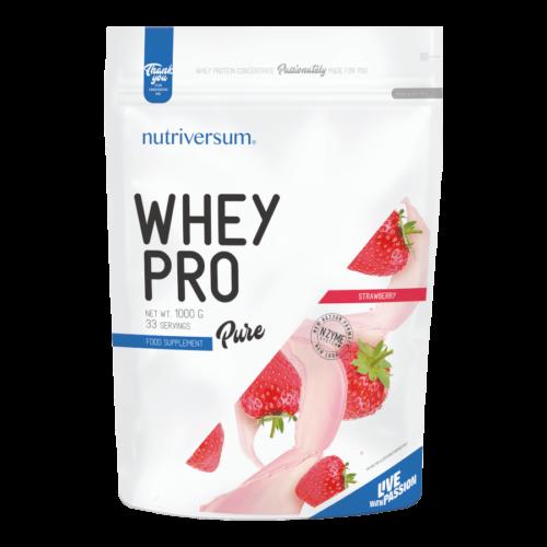 Whey PRO - 1 000 g - PURE - Nutriversum - eper - 23 g prémium fehérje forrás