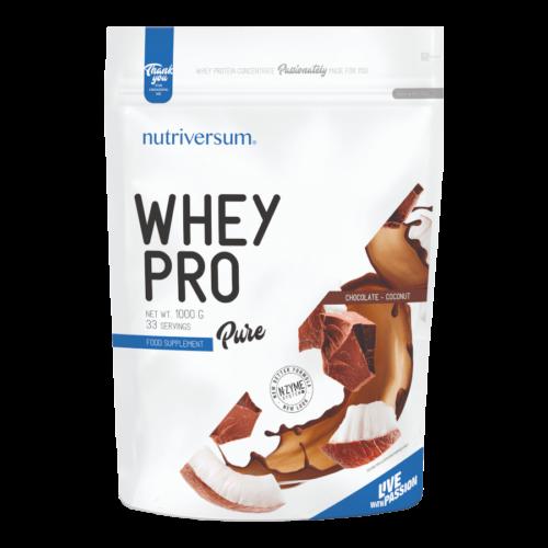 Whey PRO - 1 000 g - PURE - Nutriversum - csokoládé-kókusz - 23 g prémium fehérje forrás
