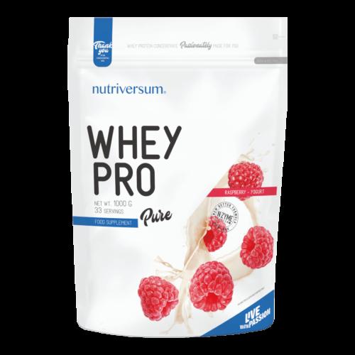Whey PRO - 1 000 g - PURE - Nutriversum - málna-joghurt - 23 g prémium fehérje forrás