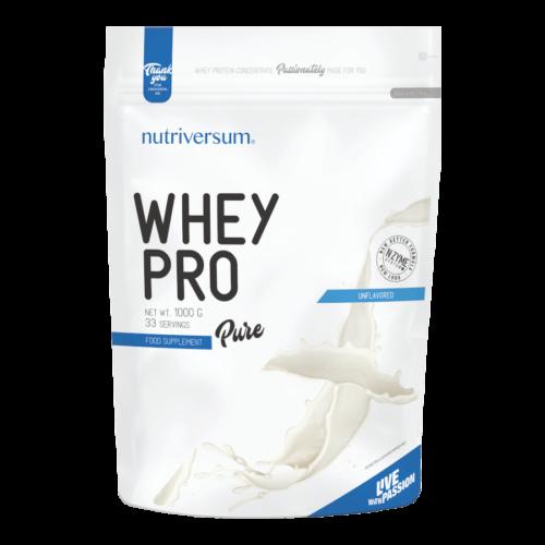 Whey PRO - 1 000 g - PURE - Nutriversum - ízesítetlen - 23 g prémium fehérje forrás