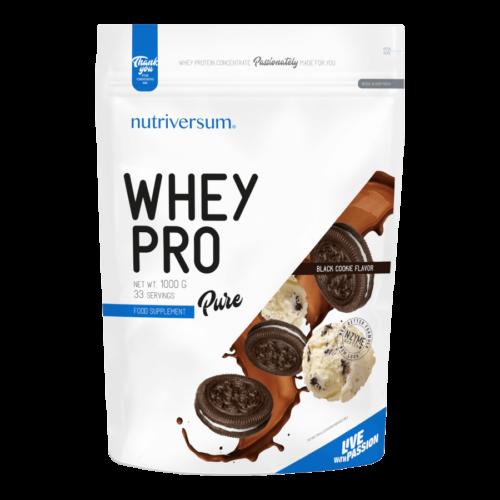 Whey PRO - 1 000 g - PURE - Nutriversum - csokis süti - 23 g prémium fehérje forrás