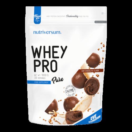 Whey PRO - 1 000 g - PURE - Nutriversum - rumos csokoládé - 23 g prémium fehérje forrás