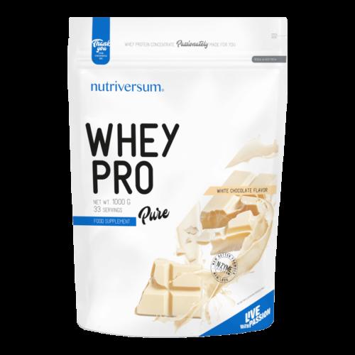 Whey PRO - 1 000 g - PURE - Nutriversum - fehércsokoládé - 23 g prémium fehérje forrás