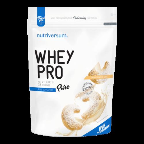 Whey PRO - 1 000 g - PURE - Nutriversum - hókifli - 23 g prémium fehérje forrás
