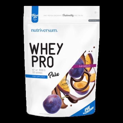 Whey PRO - 1 000 g - PURE - Nutriversum - csokoládé-szilva - 23 g prémium fehérje forrás