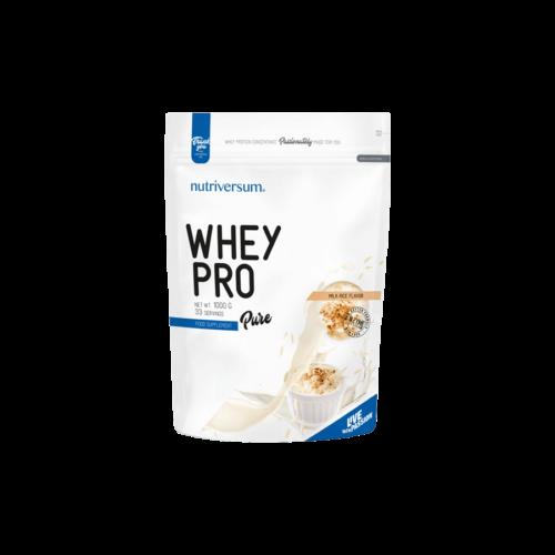 Whey PRO - 1 000 g - PURE - Nutriversum - tejberizs - 23 g prémium fehérje forrás