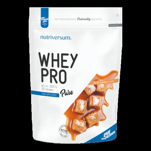 Whey PRO - 1 000 g - PURE - Nutriversum - sós karamell - 23 g prémium fehérje forrás