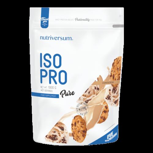 ISO PRO - 1 000 g - PURE - Nutriversum - cookie & cream - prémium, fonterra fehérjealap