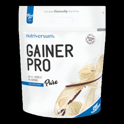 Gainer Pro - 5 000 g - PURE - Nutriversum - vanília - 4875 mg kreatin mátrix