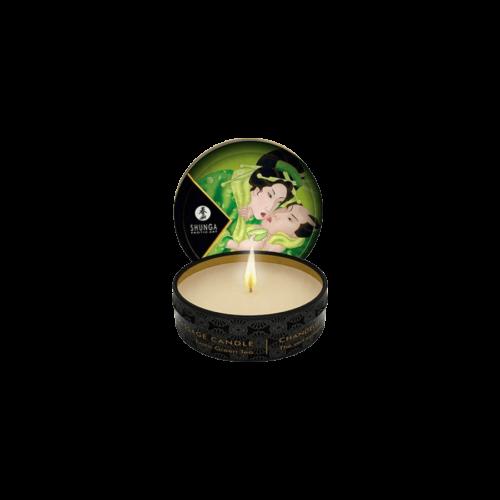 Shunga - Masszázsgyertya Zöldtea (30ml) - kozmetikai minőségű, természetes olajok