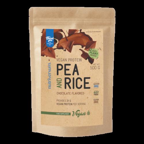 Pea & Rice Vegan Protein - 500g - VEGAN - Nutriversum - csokoládé - 100% növényi fehérje