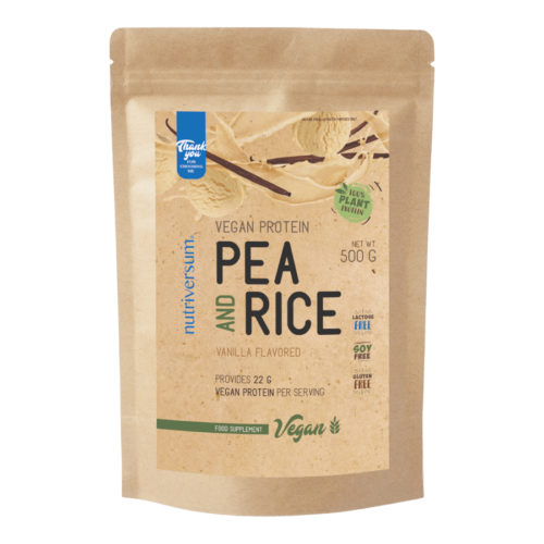 Pea & Rice Vegan Protein - 500g - VEGAN - Nutriversum - vanília - 100% növényi fehérje