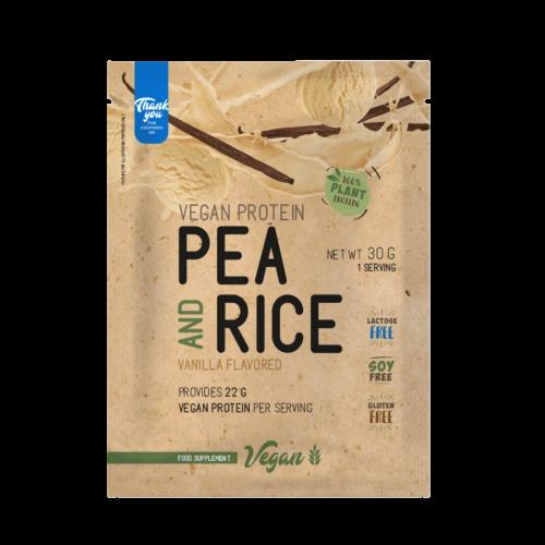 Pea & Rice Vegan Protein - 30g - VEGAN - Nutriversum - vanília - 100% növényi fehérje