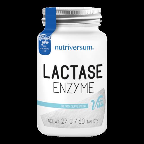 Lactase Enzyme - 60 tabletta - VITA - Nutriversum - 5000 FCCU laktáz