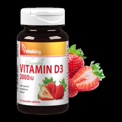 D-2000 NE - 90 rágótabletta - Vitaking -