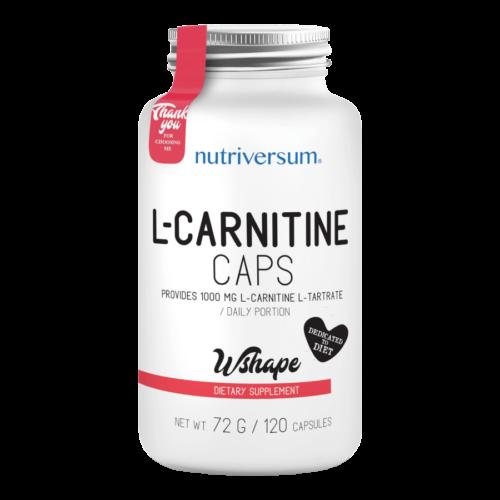 L-Carnitine caps - 120 kapszula - WSHAPE - Nutriversum -