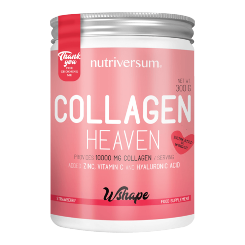 Collagen Heaven - 300 g - WSHAPE - Nutriversum - eper - 10.000mg Kollagén