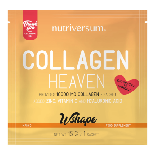 Collagen Heaven - 15 g - WSHAPE - Nutriversum - mangó - 10.000mg Kollagén