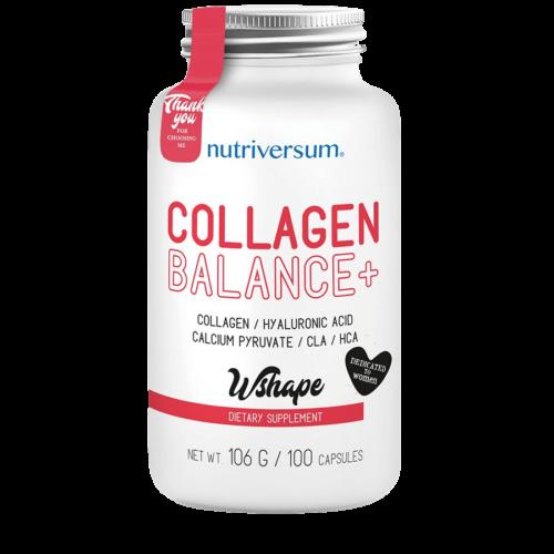 Collagen Balance+ - 100 kapszula - WSHAPE - Nutriversum - hozzáadott HCA és CLA hatóanyagok