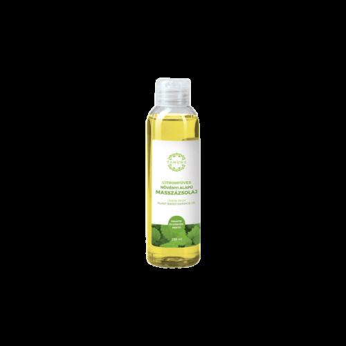 Citromfüves növényi alapú masszázsolaj - 250ml - színezék-, parabén- és paraffin mentes