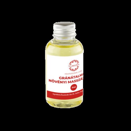Gránátalmás növényi alapú masszázsolaj - 50ml - színezék-, parabén- és paraffin mentes