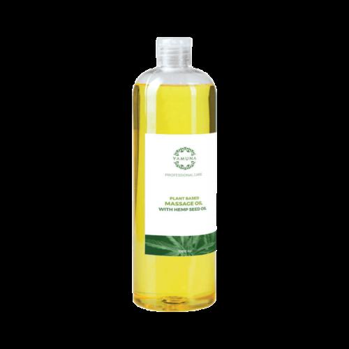 HEMP Kendermagolajos növényi alapú masszázsolaj - 1000ml - színezék-, parabén- és paraffin mentes