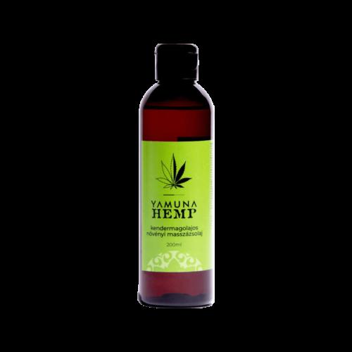 HEMP Kendermagolajos növényi alapú masszázsolaj - 200ml - színezék-, parabén- és paraffin mentes