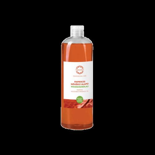 Paprikás növényi alapú masszázsolaj - 1000ml - színezék-, parabén- és paraffin mentes