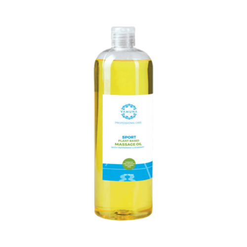 Sport növényi alapú masszázsolaj borsmenta és rozmaring olajjal - 1000ml - színezék-, parabén- és paraffin mentes