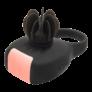 Kép 2/5 - Tokyo Design Glamfit - akkus, forgó pénisz gyűrű (fekete) - körbe-körbe forgó propellerrel