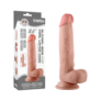 Kép 1/5 - Lovetoy - Sliding Skin Dong 8 inch - hajlítható, bőrszerű, tapadókoronggal